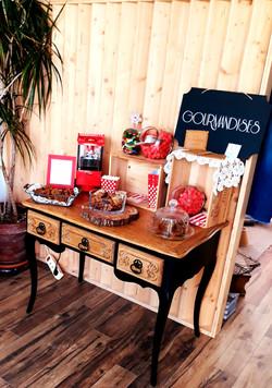Bar à bonbons et gateaux candy bar