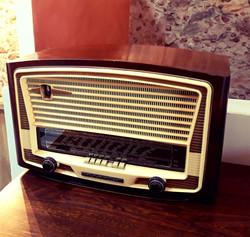 Radio vintage décoration mariage