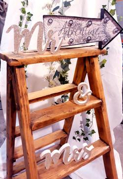 Mr Mrs doré lettres mariage déco