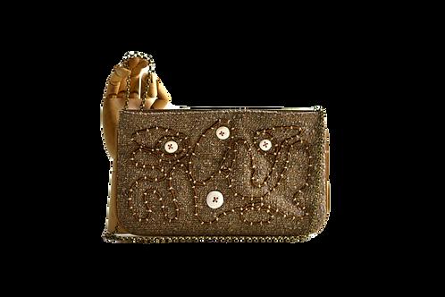 bolsa tiracolo botões artesanais de cerâmica