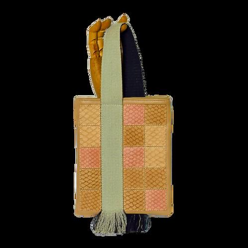 bolsa de punho quadrados de tilápia