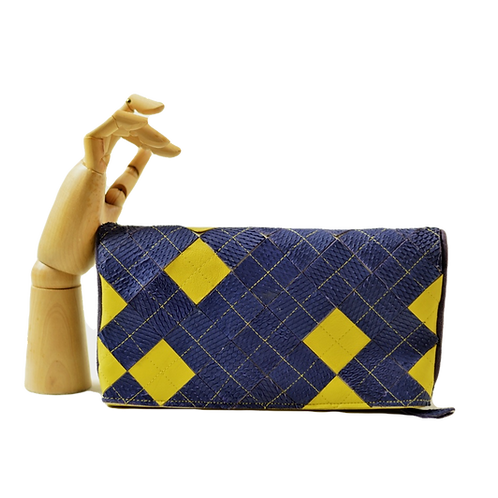 bolsa clutch yellow & royal