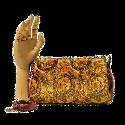 bolsa tiracolo tecido vintage