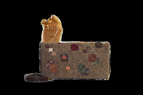 bolsa clutch tecido decoração