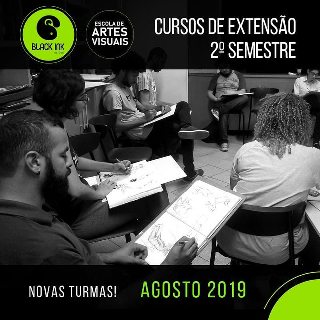 Cursos Semestrais do Estúdio Black Ink