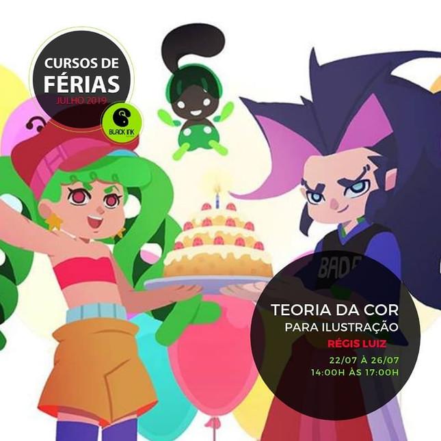 Curso Teoria da Cor para Ilustração -  professor Régis Luiz