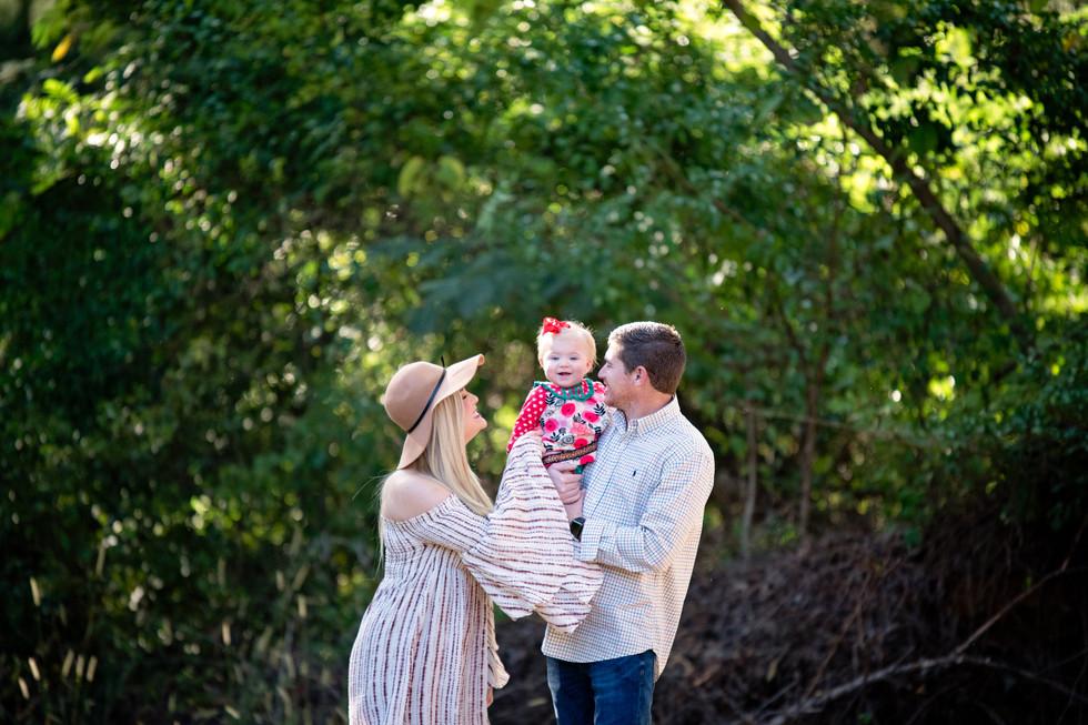 outdoor photoshoot family of three