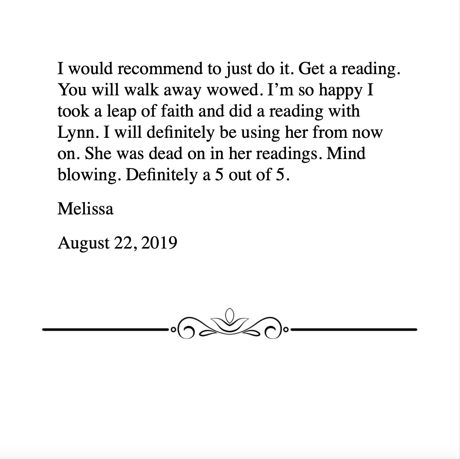 Melissa 8.22.2019
