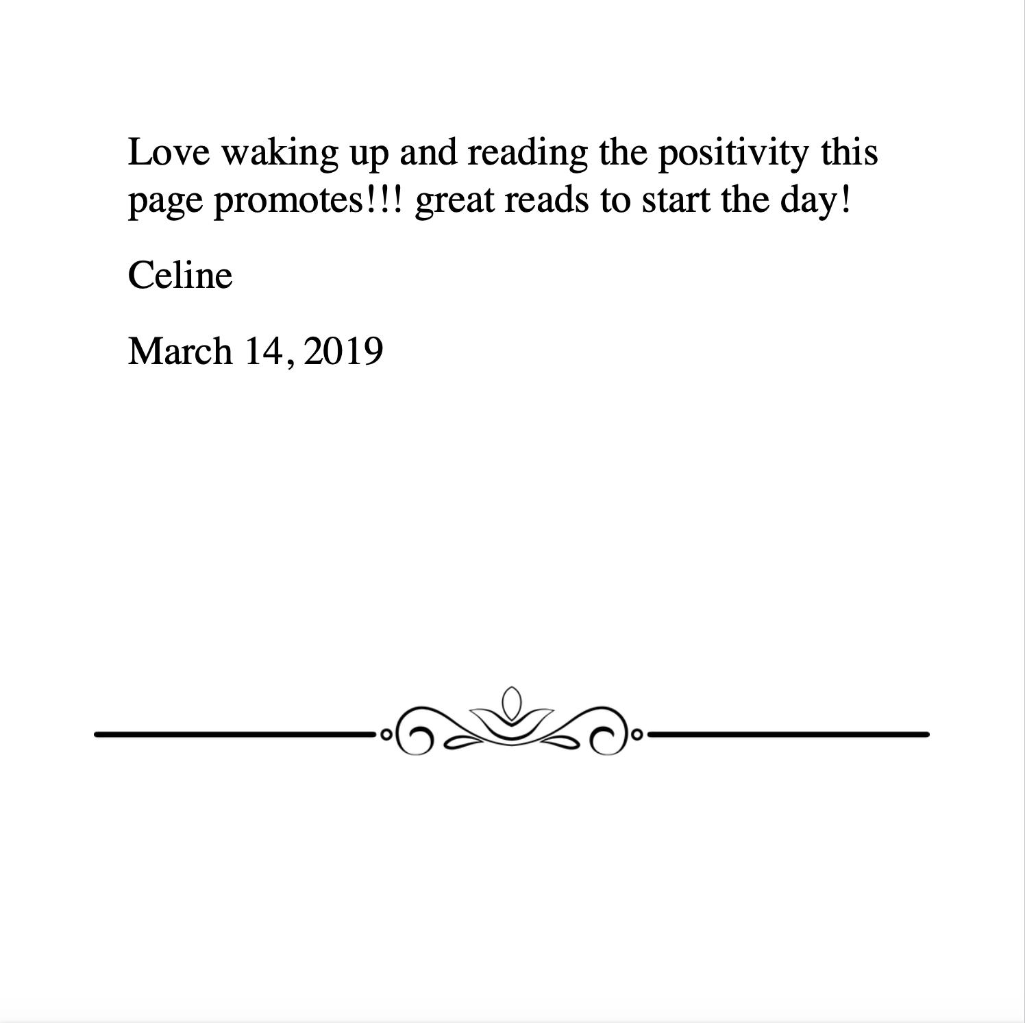 Celine 3.14.2019