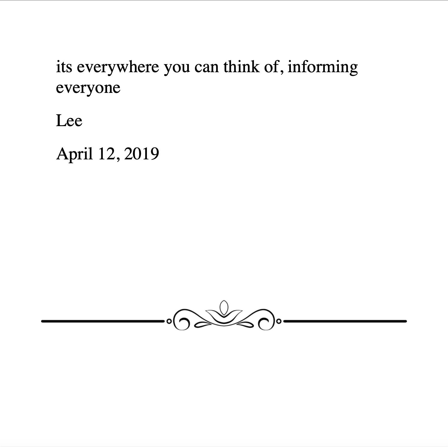 Lee 4.12.2019