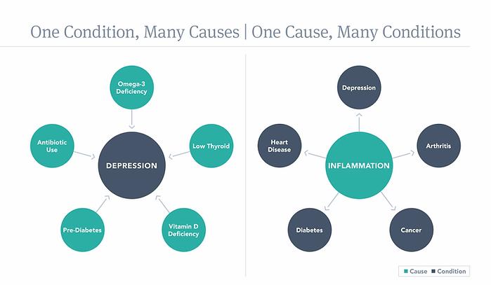 Functional Medicine Root Cause Diagram
