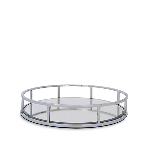 Round Mirrored Tray - Petite