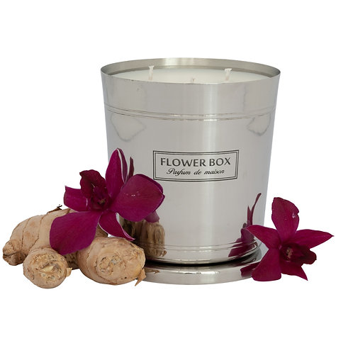 Amber Orchid - 1kg Silver Candle