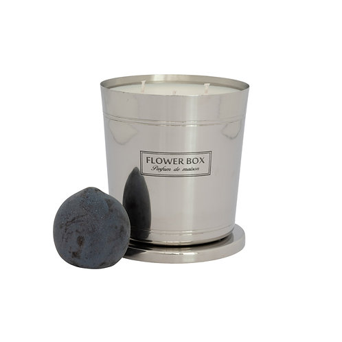 Blood Plum & Leather - 1kg Silver Candle