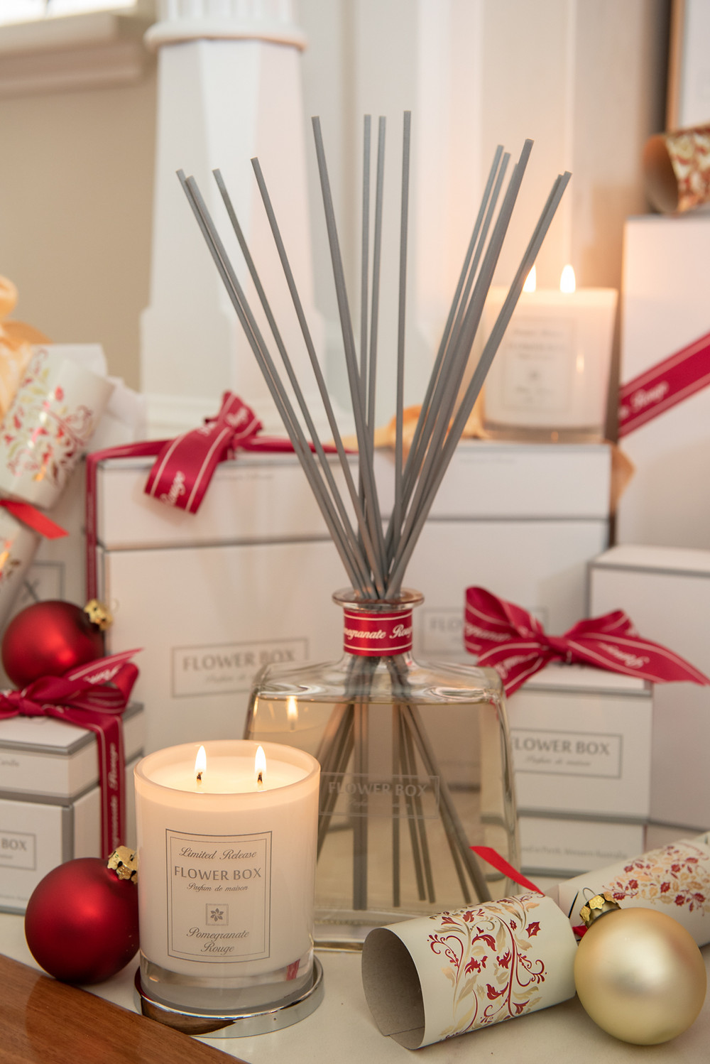 Flower Box Home Fragrance luxurious Candle and Diffuser