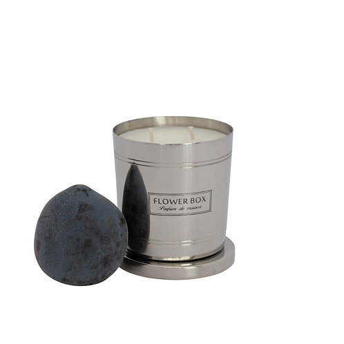 Blood Plum & Leather - 290g Silver Candle