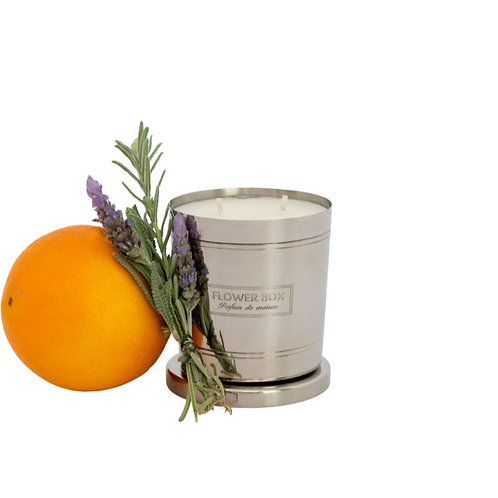 Sweet Orange & Lavender - 290g Silver Candle
