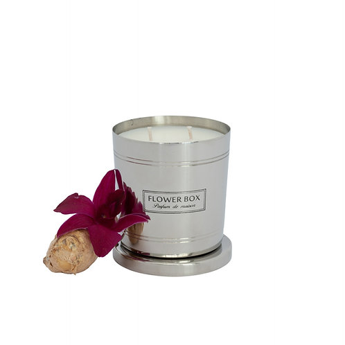 Amber Orchid - 290g Silver Candle