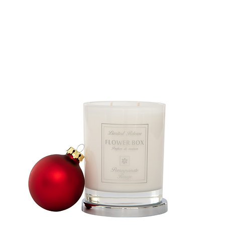 Pomegranate Rouge - Luminous White Candle