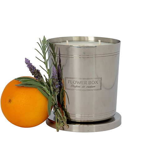 Sweet Orange & Lavender - 1kg Silver Candle