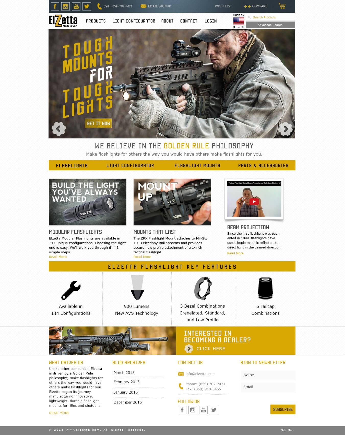 Elzetta Homepage Redesign 2