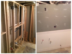 Basement wall for bathroom