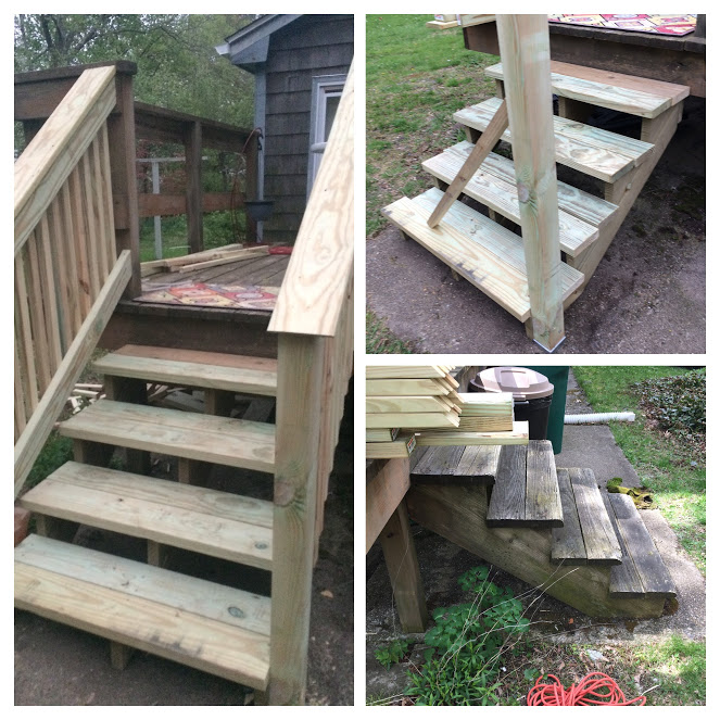 New Deck Stairs