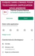 accueil android de l'application trema.p