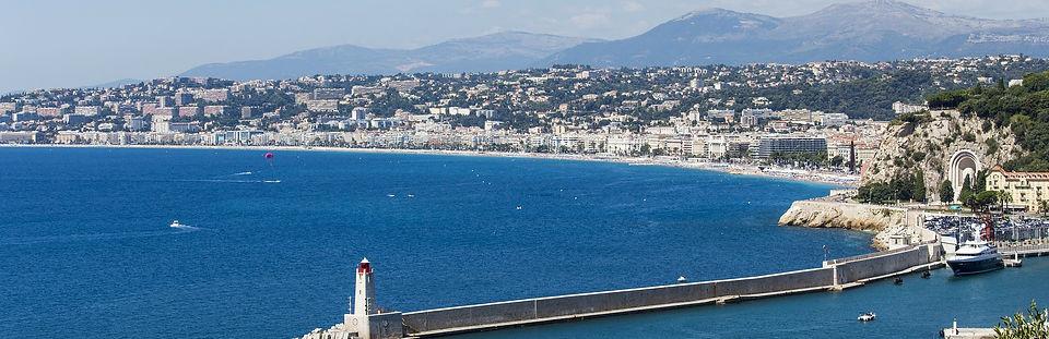 Vue de la ville de Nice Alpes Maritimes