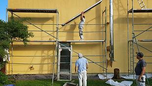 Peinture extérieure sur façade
