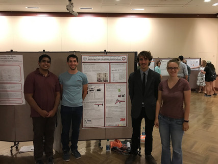 Leo Presents Poster at REU Chemistry Poster Session