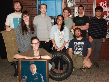 Lab group outing at Adventures in Time and Space lab escape!