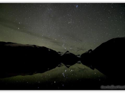 Portage Lake as Orion-The Hunter rises