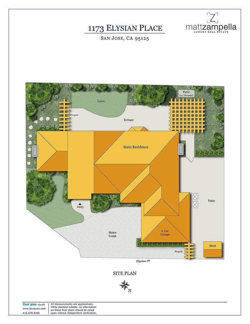 1173 Elysian Pl - Site Plan