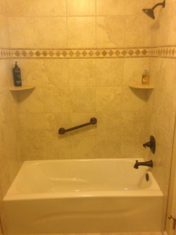 Ceramic Tile Tub and Shower Surround