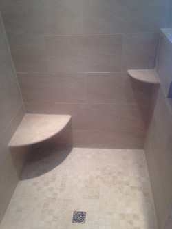 Seat and Shelf in Shower