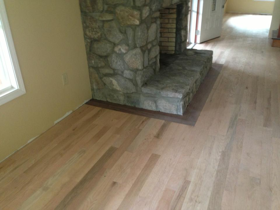 Red Oak with Walnut Border