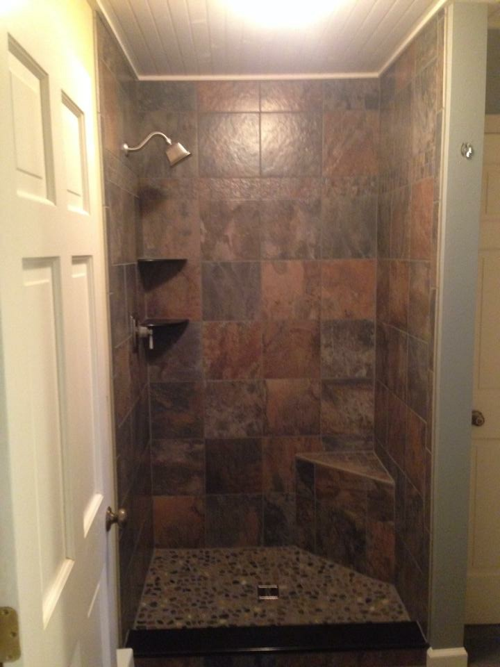 Faux Slate Tile Shower
