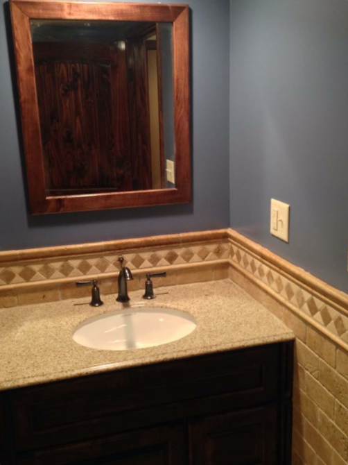 Custom Vanity with Granite Top