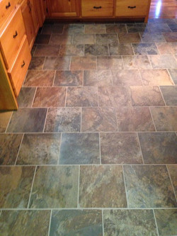 New Tile Flooring in Kitchen
