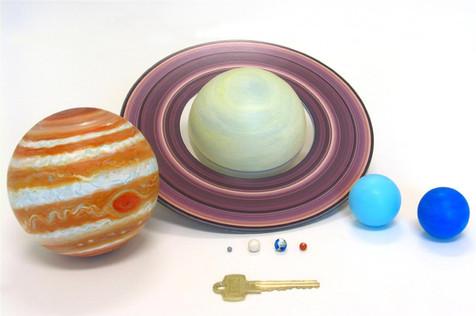 Les planètes à l'échelle