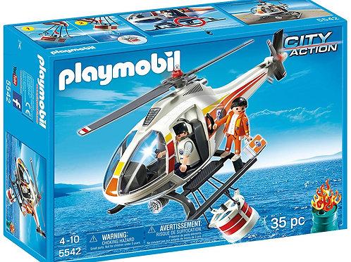 Playmobil 5542 Hélicoptère Bombardier d'eau