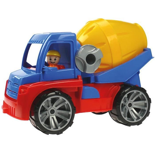 Gros camion avec toupie à ciment