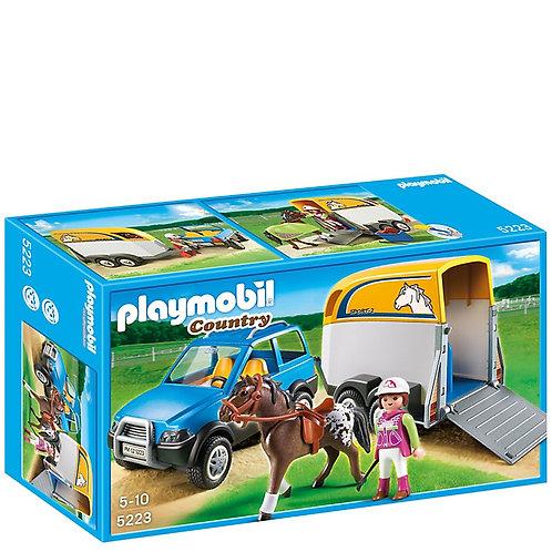 Playmobil 5223 Voiture avec remorque