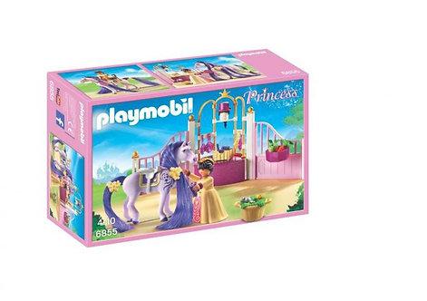 Playmobil 6855 Ecurie avec cheval à coiffer et princesse