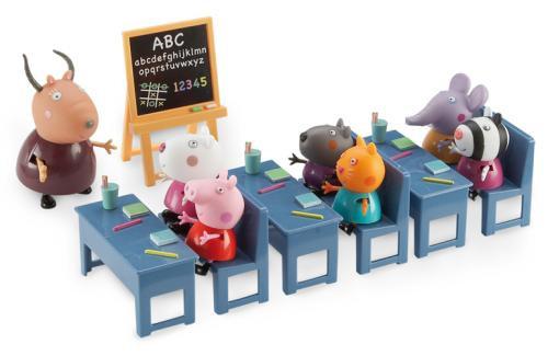 Salle de Classe avec 7 personnages Peppa