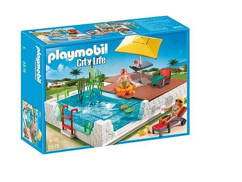 Piscine avec terrasse - Playmobil City Life - 5575
