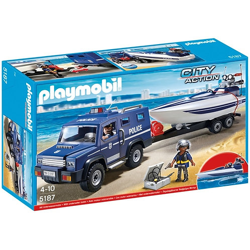 Playmobil City Action - 5187 - Fourgon & vedette de police