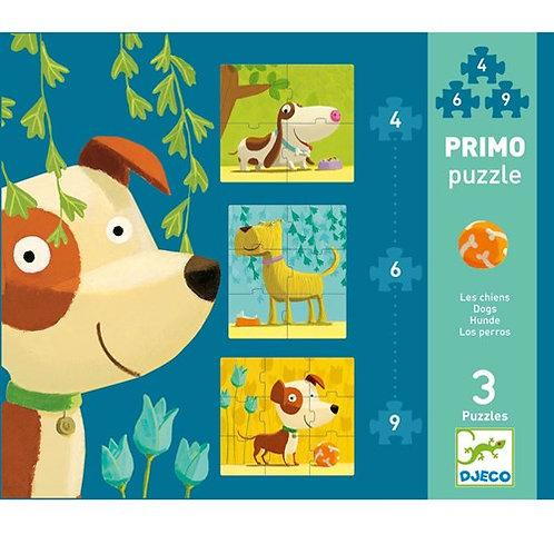 Puzzle de chiens, 3 puzzle évolutifs
