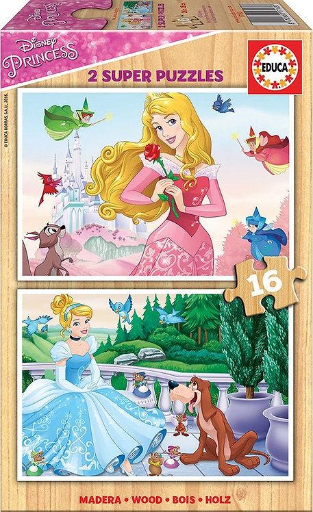 2 super puzzle Disney Princesse